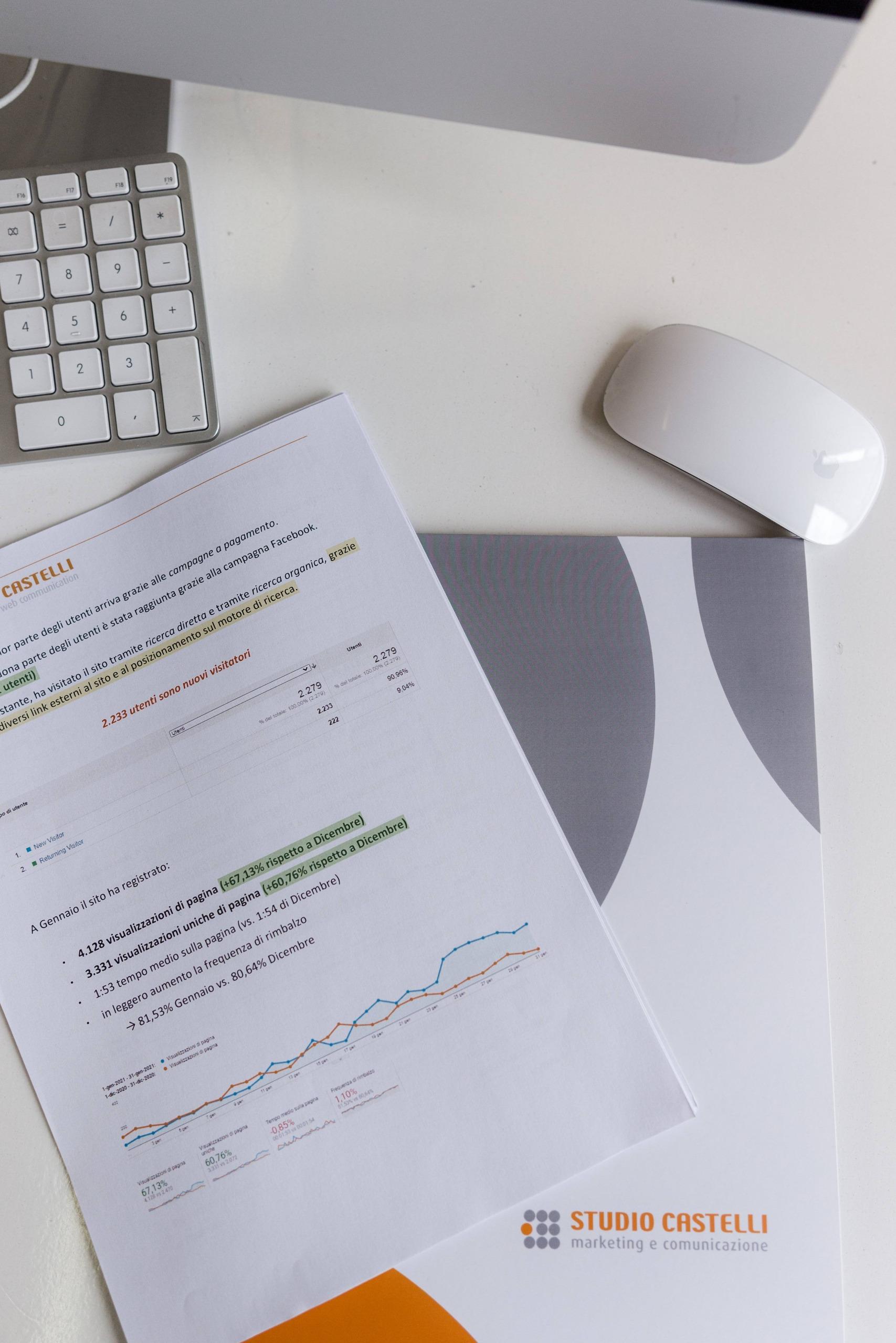 report per analisi dati